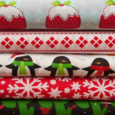 """Christmas printed PolyCotton quality material poly cotton fabric 44"""" per Metre"""