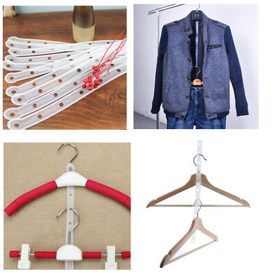 10x Suit Verbindungsmaterial Hanger Connector Strips Kleidung Shop Displays