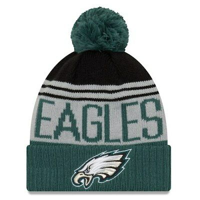 Philadelphia Eagles New Era Team Pride Cuffed Knit Hat with Pom - Gray  Midnight f54c13d7a31f