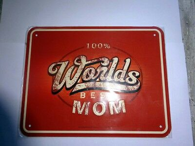 Blechschild - Mama: 100% Worlds Best Mom