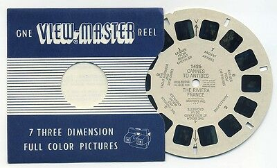 CANNES to ANTIBES The Riviera France 1956 ViewMaster Single Reel 1426