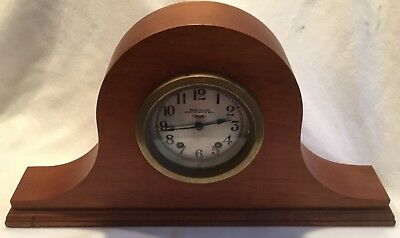 Old Vintage Seth Thomas Seven Jeweled Eight Day Ships Bell Clock Wood Case
