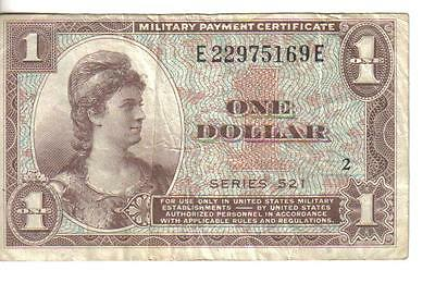 Us, $1, Military Payment Certificate, Series 521, Nd(1954)