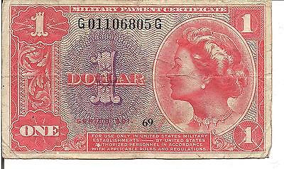 Us, $1, Military Payment Certificate, Series 591, Nd
