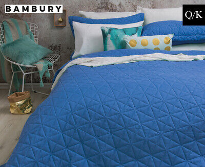 Bambury Regent Queen/King Bed Coverlet Set - Blue
