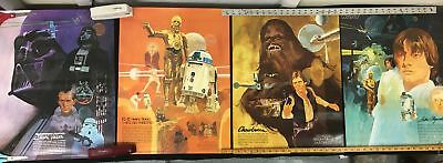 1977 Star Wars Burger Chef Posters Set of Four New Old Stock Chewbacca/Vader