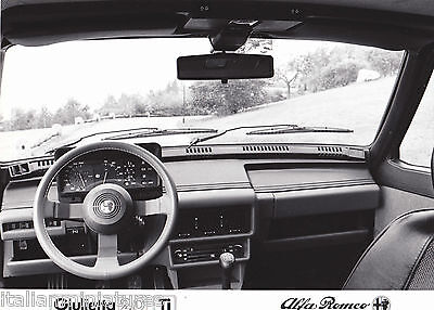 Alfa Romeo Giulietta 2.0 Ti Interior Original Black and White Photograph