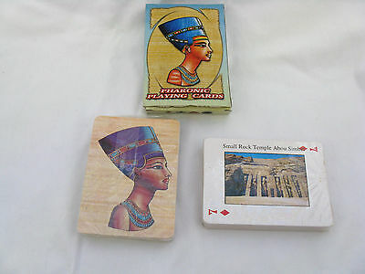 Egyptian Playing Cards Nefertiti Design With Different Scene from Egypt (Sale)