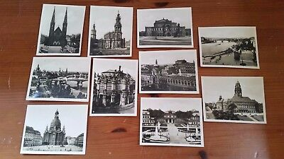 Vintage 1930's Set 10 Photos Pictures Views Dresden Germany Pre WW2 World War 2