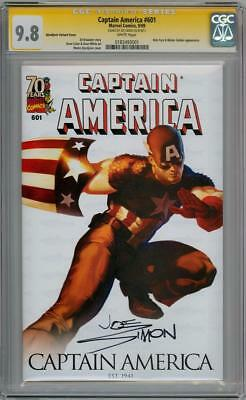 Captain America #601 Variant Cgc 9.8 Signature Series Signed Joe Simon Marvel