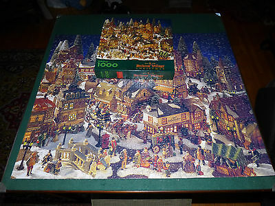New ASSEMBLED Springbok Dept 56 Dickens Village Xmas Jigsaw Puzzle COMPLETE