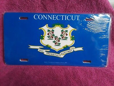 Connecticut state flag license plate ** Nice Graphic Design & Heavy Duty Tag**