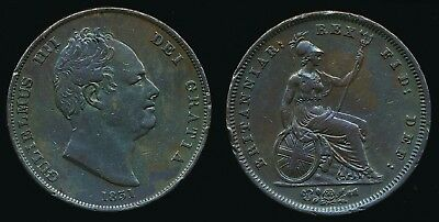 1831 William IV - Copper PENNY...Fast Post
