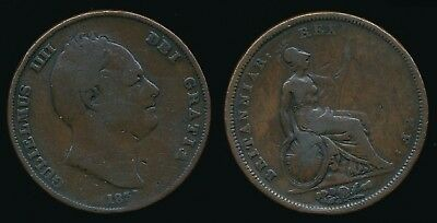 1831 William IV - Copper PENNY...WW on Truncation....Fast Post