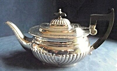 SUPERB Large ~ SILVER Plated ~ BULBOUS Fluted ~ TEAPOT ~ c1950