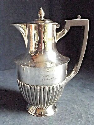 SUPERB ~ SILVER Plated ~ FLUTED Juice / Water JUG ~ c1900 by Atkins Brothers