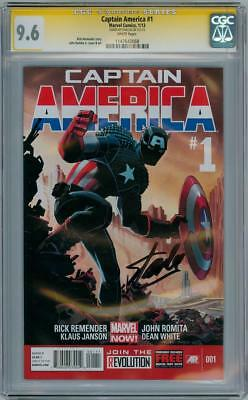 Captain America #1 Cgc 9.6 Signature Series Signed Stan Lee Marvel Comics Movie