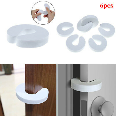 6 X FOAM DOOR GUARDS Child Saftey Stopper Anti-Slam Baby Proof Finger Protector