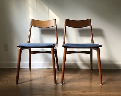 Mid Century Modern Teak Set of SLAGELSE MOBELVAERK Dining Chairs Denmark