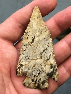 Colorful High Grade Afton From Missouri Native American Arrowhead Color
