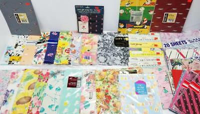 HUGE LOT High Quality Vintage Wrapping Gift Paper OVER 37 PACKS 150 SHEETS Wrap