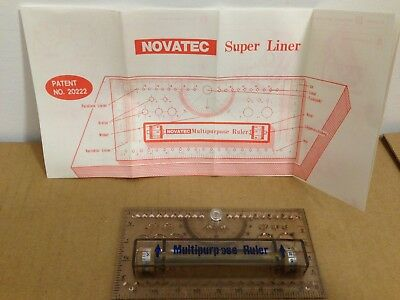 Roll-O-Ruler By Novatec Rolling Multipurpose Drafting Ruler W/ Pivot Brass