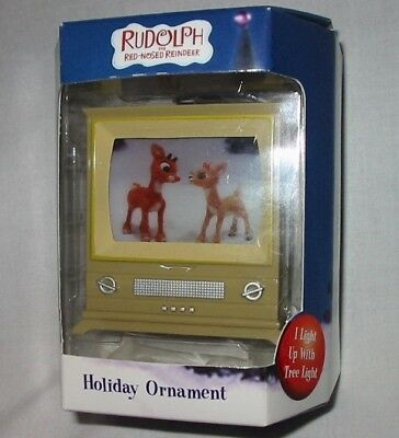 RUDOLPH The Red Nosed Reindeer CLARICE TV Light Christmas Ornament #116396