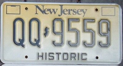 NEW JERSEY 1990 s HISTORIC  license plate  QQ - 9559