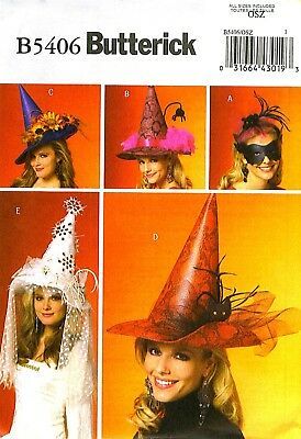 OOP! VARIETY of HALLOWEEN CONE HATS & MASK COSTUME SEWING PATTERN Butterick 5406