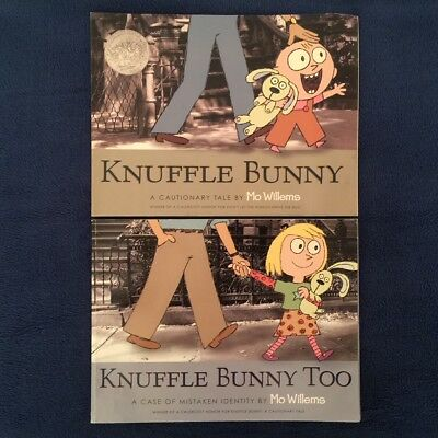 2 Lot Children's Picture Books by Mo Willems: Knuffle Bunny & Knuffle Bunny Too