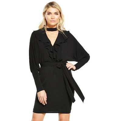 V by Very Batwing Frill Dress