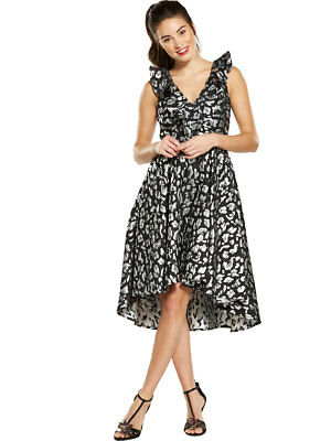 V by Very Jacquard High Low Dress