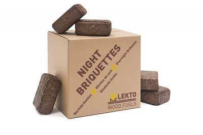 Lekto Night Briquettes for Wood Burners and Multi Fuel Stoves Small Minipack
