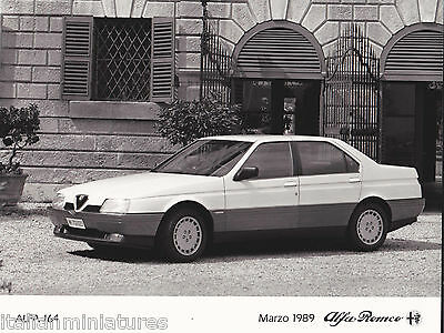 Alfa Romeo 164  Original Alfa Romeo Press Photograph 1989