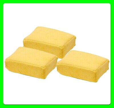 * Pack of 3 * Real Chamois Leather Jumbo Demist Sponge Pad [WH06]