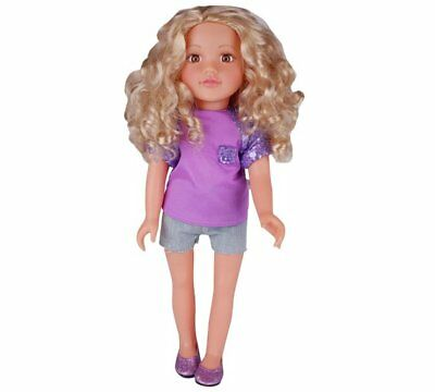 Chad Valley Designafriend Lauren Doll Curly Blonde Hair And Brown 18inch/45cm_UK