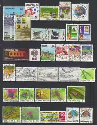 Singapore 1980-1985 Used Selection Cat £29+