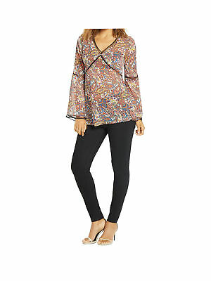 V By Very Ladder Trim Paisley Print Blouse