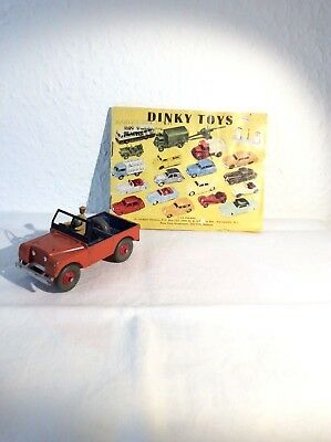 Alter Dinky Toys Land Rover+Katalog,1:36 -#27m