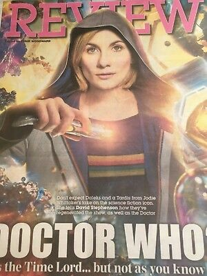 UK Jodie Whittaker Express Review Cover Clippings Doctor Who Interview Promo