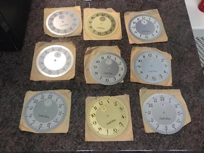 9 X SMITH ALARM CLOCK DIAL/FACE 110mm DIAMETER INC LUMINOUS NOS