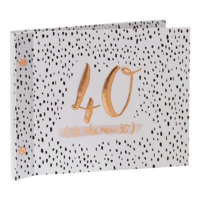Pink 40th Birthday Guest Book With Photo Album Gift boxed Luxe by Hotchpotch