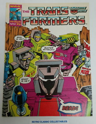 Marvel UK - The Transformers - Comic - No. 61 - 17th May. 1986 (*1)