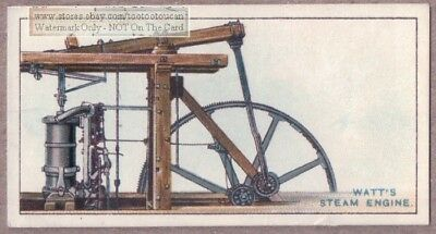 James Watt's Steam Engine Invention 1915  Ad Trade Card