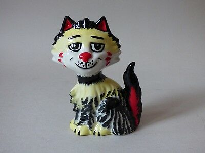 W@w Rare Collectable Lorna Bailey Studio Pottery Stylised Cat Free Uk P+P
