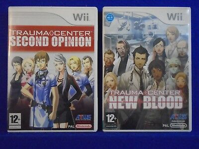 wii TRAUMA CENTER x2 Games Second Opinion + New Blood Nintendo PAL UK Versions