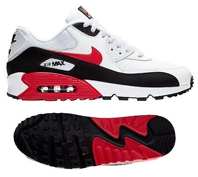 buy popular 3cb27 384d3 NEW NIKE AIR Max 90 Essential Mens white black red
