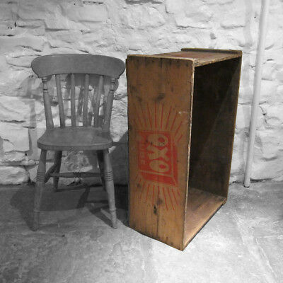Large Oxo Box Rustic Pine Crate Trunk Chest Kitchen Storage Display 1940s Old