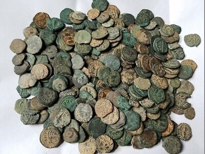 Medium Quality Uncleaned Ancient Judaea, Jewish Biblical Coins Per Coin Buying