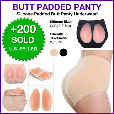 SILICONE BUTT PADDED Panty Underwear Enhancer Buttocks Shapewear Girdle 2Pads